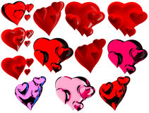Beautiful hearts Royalty Free Stock Photos