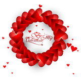 Beautiful hearts for be my valentine's day typography text Royalty Free Stock Photography