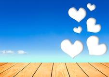 Beautiful hearts on Blue Sky Stock Photo