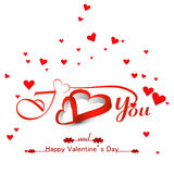 Beautiful hearts card for valentine's day background  Royalty Free Stock Photos