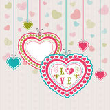 Beautiful hearts for Happy Valentines Day celebration. Stock Images
