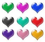 Beautiful Hearts Icons Stock Photos