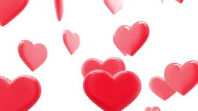 Beautiful Hearts in looped animation. stock footage