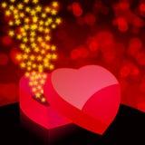 Beautiful heartshaped box Stock Images