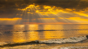 Beautiful heavenly sunset. With sunbursts, religion / faith / beliefs concept Royalty Free Stock Photos