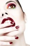 Beautiful heavy makeup closeup Royalty Free Stock Photos