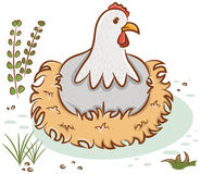 Beautiful hen character Royalty Free Stock Images