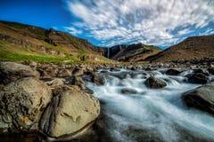 Beautiful Hengifoss Waterfall in Eastern Iceland