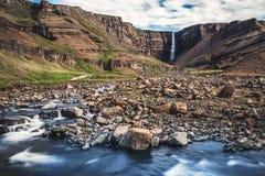 Beautiful Hengifoss Waterfall in Eastern Iceland.