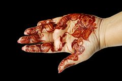 Beautiful Henna design on a hand Royalty Free Stock Image