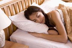 Beautiful in her sleep stock photography