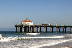 Beautiful Hermosa Beach in California. Beautiful pier at Hermosa Beach in California Royalty Free Stock Images