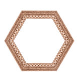 Beautiful hexagonal frame isolated on a white background Stock Photography