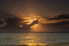 Beautiful Hidden Sunrise at Sanur Beach Bali stock photography