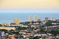 Beautiful high angle view Hua Hin city Stock Images