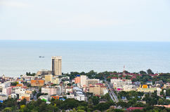 Beautiful high angle view Hua Hin city Stock Photos
