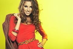 Beautiful high fashion model stock image