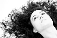 Beautiful High-key. Beautiful woman with long hair on high key portrait Royalty Free Stock Photos