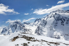 Beautiful high mountains of the Caucasus Royalty Free Stock Photos