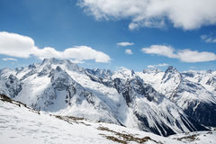 Beautiful high mountains of the Caucasus Stock Photography