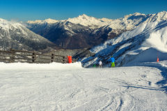 Beautiful high mountains and ski slopes,Les Sybelles,France,Europe Royalty Free Stock Photo