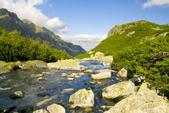 Beautiful high mountains view, tatry in poland stock image