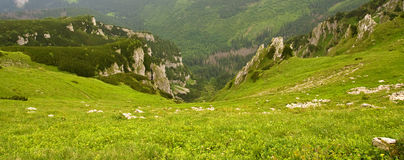 Beautiful high mountains view, tatry in poland Stock Photography