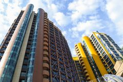 Beautiful high-rise buildings. royalty free stock images