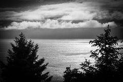 Beautiful high view of the Pacific from the Oregon Coast Stock Photography