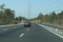 Beautiful Highways of Modern India. New high quality express highway roads in India Stock Image