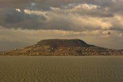 Beautiful Hill - Badacsony - at lake Balaton Royalty Free Stock Photo