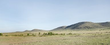 Beautiful hillocks in Masai Mara National Park Stock Image