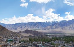 Beautiful hillocks and mountains of Leh, HDR Royalty Free Stock Image