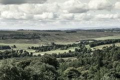Beautiful Scottish landscape in Summer. Beautiful hills and fields of Scotland royalty free stock photography