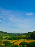 Beautiful hills. Green landscape. Beautiful landscape. Green hills and blue sky royalty free stock photo