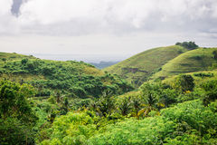 The beautiful hills on the island of Nusa Penida Stock Images
