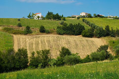 Beautiful hills in the province of Teramo. In Italy Stock Image