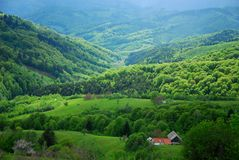 Beautiful hills on spring Stock Image
