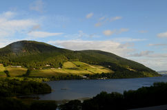 Beautiful Hills Surrounding Loch Ness on a Gorgeous Day Stock Photography