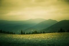 A beautiful hillside scenery of Tatra mountains. Stock Image