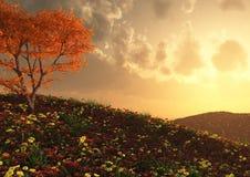 A beautiful hillside view Royalty Free Stock Photo