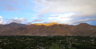 Beautiful Himalayan mountain at sunset, HDR. Colourful mountain during sunset at Leh Royalty Free Stock Images