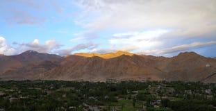 Beautiful Himalayan mountain at sunset, HDR Royalty Free Stock Images