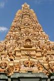 Beautiful hinduist temple. High pyramid Beautiful hinduist temple Stock Photography