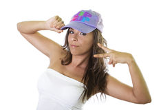 Beautiful hip hop girl Royalty Free Stock Photography