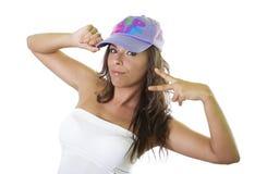 Beautiful hip hop girl royalty free stock photography