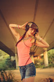Beautiful hip hop woman Stock Photography