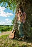 Beautiful hippie girl Stock Photos