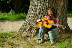 Beautiful hippie girl Stock Image
