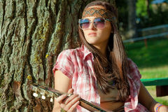 Beautiful hippie girl Royalty Free Stock Image